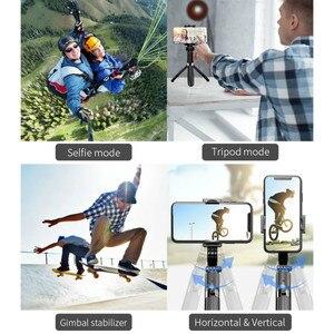 Image 2 - Auto Draaibare Bluetooth Handheld Gimbal Stabilizer Mobiele Telefoon Selfie Stok Houder Verstelbare Statief Stand Voor Iphone/Huawei