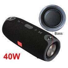40w tela de alta potência mini alto-falante sem fio bluetooth portátil coluna baixo bt suporte usb tf aux fm handsfree para tv