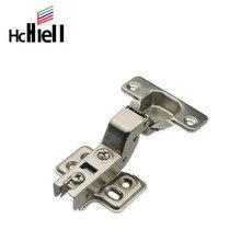Dobradiça de aço inoxidável/laminado a frio dobradiças de porta de armário hidráulico amortecedor macio fechar armário de cozinha móveis completo/embutido