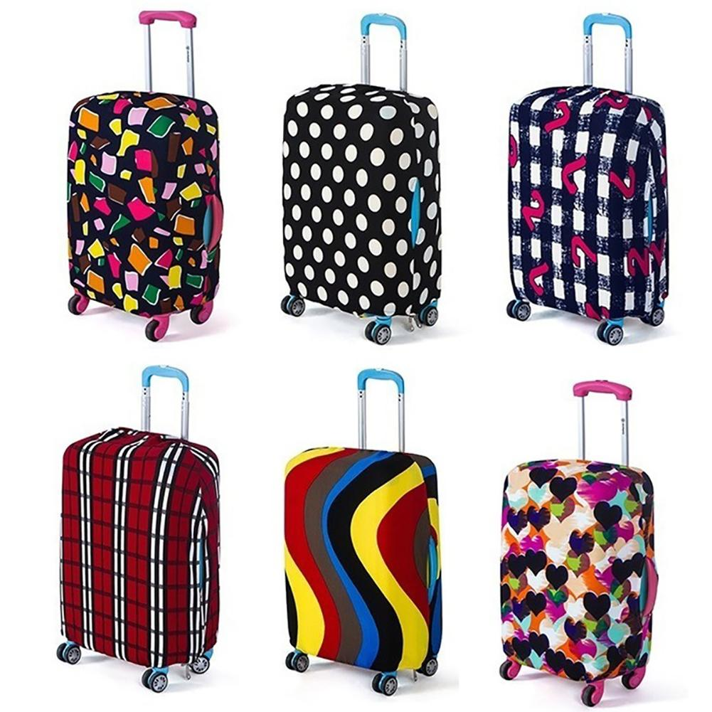 Elastic Dustproof Elasti Travel Luggage Cover Protective Case Apply For 18-28inch Suitcase Travel Accessorie Baggag