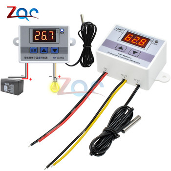 AC 110V-220V DC 12V 24V LED Digital Temperature Controller Thermostat Thermometer sensor Meter Heating Cooling Incubator Fridge
