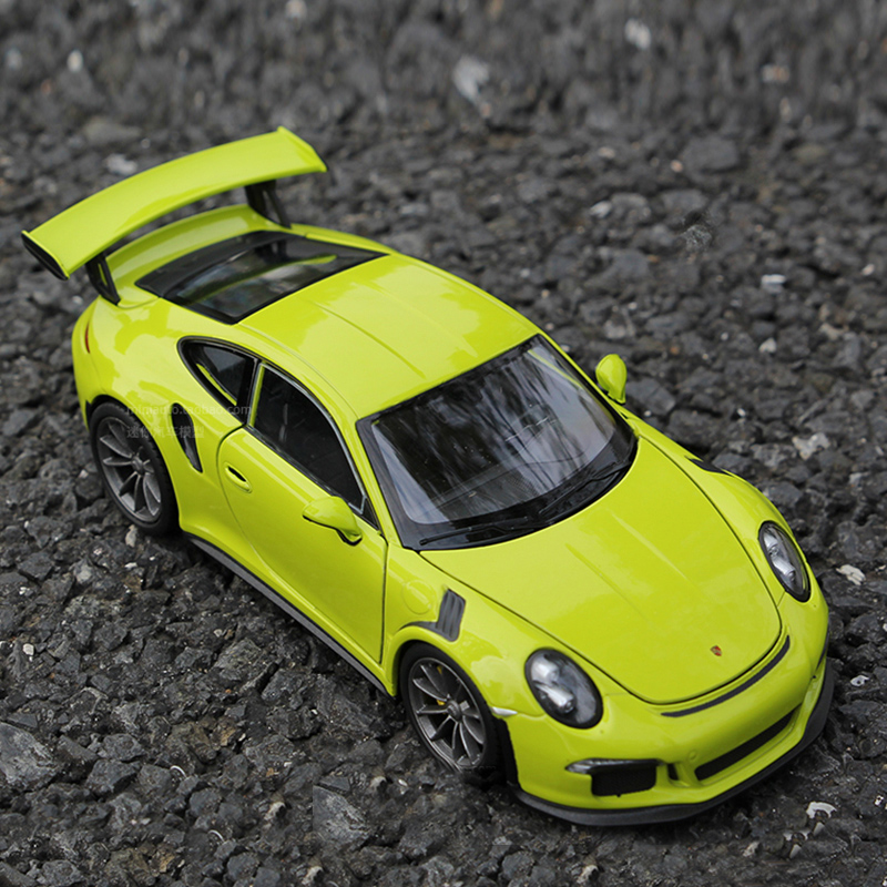 Welly 1:24 Porsche GT3 RS sports car alloy car model Diecasts Toy Vehicles Collect gifts Non-remote control type transport toy