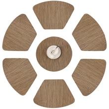 Круглый коврик для круглого стола Клин кухня место коврики с 1 круглый кусок теплоизоляции грязеотталкивающий винил тканый плак