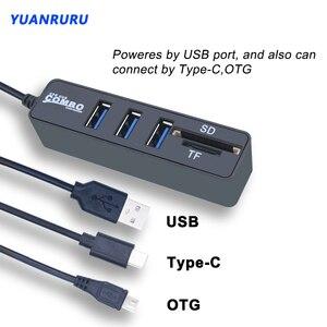 Usb хаб 2,0 Тип C мульти USB Высокоскоростной разветвитель 3/6 Порты OTG 2,0 хаб устройство для чтения карт SD TF все в одном для ПК компьютера телефона с изображением из мультфильма|USB-хабы|   | АлиЭкспресс
