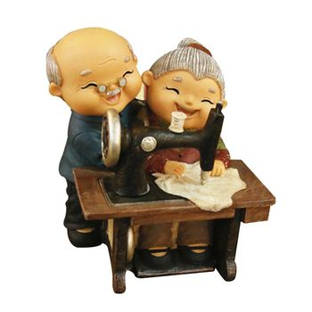 Small Ornaments Grandparents Old Lady Old Characters Crafts Birthday Gifts For Wife Husband Old Man Home Decorations