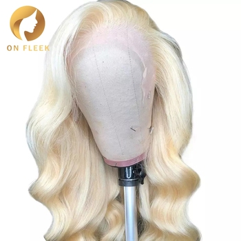 8 To 30 Inch Blonde 613 Full Lace Human Hair Wig Pre Plucked With Baby Hair Body Wave Brazilian  Remy Hair  For Black Women