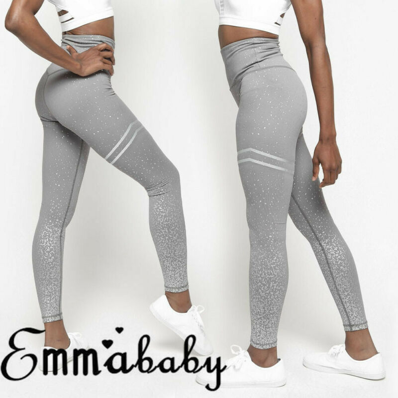 Spring Fashion Womens Gym Butt Lift Anti-Cellulite Compression Leggings Elastic Pants Casual Solid Breathable Sport Pencil Pants