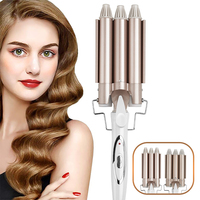 Hair Curling Iron Electric Hair Curlers Ceramic Triple Barrel Professional Hair Styler Hair Waver Curling Hair Styling Tools 2
