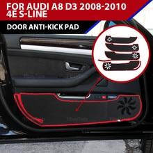 Wysokiej jakości podkładka chroniąca przed kopaniem drzwi samochodu mata ochronna poliester osłona krawędzi bocznej dywan dla Audi A8 D3 2008-2010 4E s-line