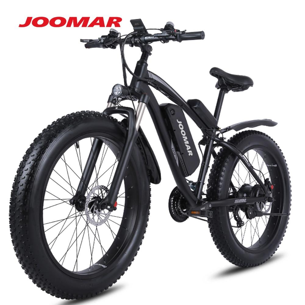 JOOMAR Electric Bike 1000W 48V Motor 4.0 Fat Tire Mountain Bike Beach Snow Bicycle for Men MTB Ebike Kit 17AH Battery JM02S Plus 4