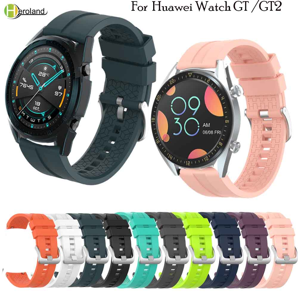Colorful 22MM Wrist Strap Band For Huawei Watch GT/GT 2 46mm/42mm Men Women Smartwatch Band Wriststrap Bracelet Sport Silicone