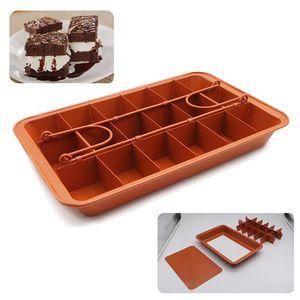 YosHouse Brownie блинная форма с разделителем антипригарная форма для выпечки, из углеродистой стали Форма для духовки форма для выпечки кухонная ...