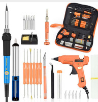 Foreign Trade 220 V 60w diy Thermostat Electric Iron Welding Kit Screw Driver Glue Gun Repair Chisel Wholesale