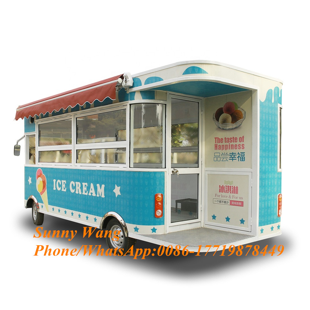 Factory Price Food Cart Mobile Food Trailer Electric Food Truck For Sale In Europe