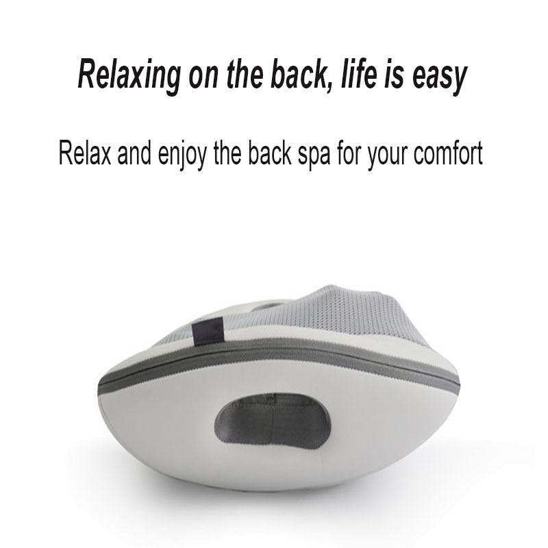 Back Massager Waist Massager Massage Cushion Relaxing The Back Car Back Massage Portable Smart Hot Compress