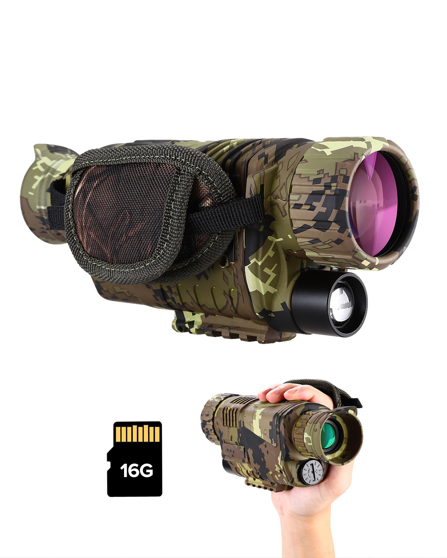 Infrared Digital Night Vision Monocular Binoculars 16G IR Telescope 5x8 Optics Scope Photo Video Recording Hunting Camera Device