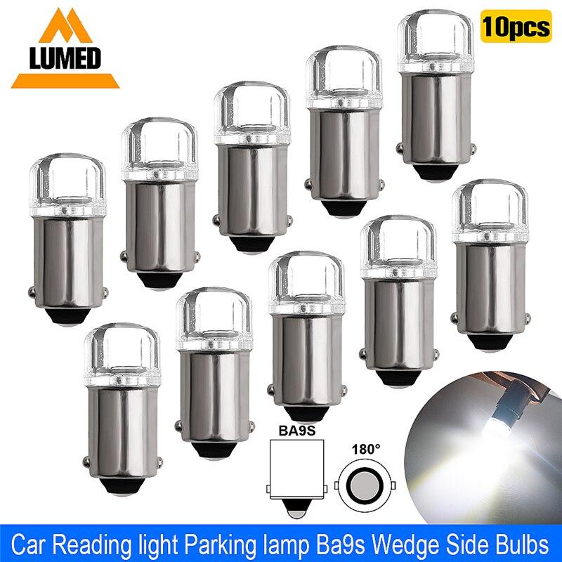 10x BA9S T4W LED Voiture ampoule T2W T3W H5W intérieur Voiture éclairage de plaque d'immatriculation LED 2 LED 2835 SMD DC12V 12913 12910 12929