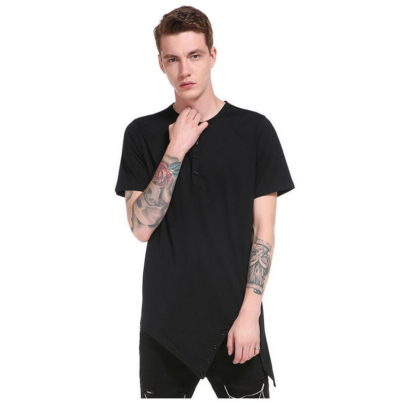 Men's 2018 Spring And Summer New European And American Nano Stripe Short-sleeved T-shirt Foreign Trade Shirt Men