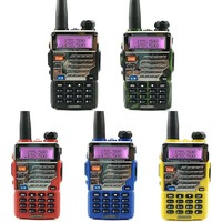 uv 5re 2pcs Baofeng UV-5RE מכשיר הקשר UHF VHF Walky טוקי מקצועי CB רדיו HF משדר Baofeng UV-5R UV 5R 5 צבעים רדיו (3)