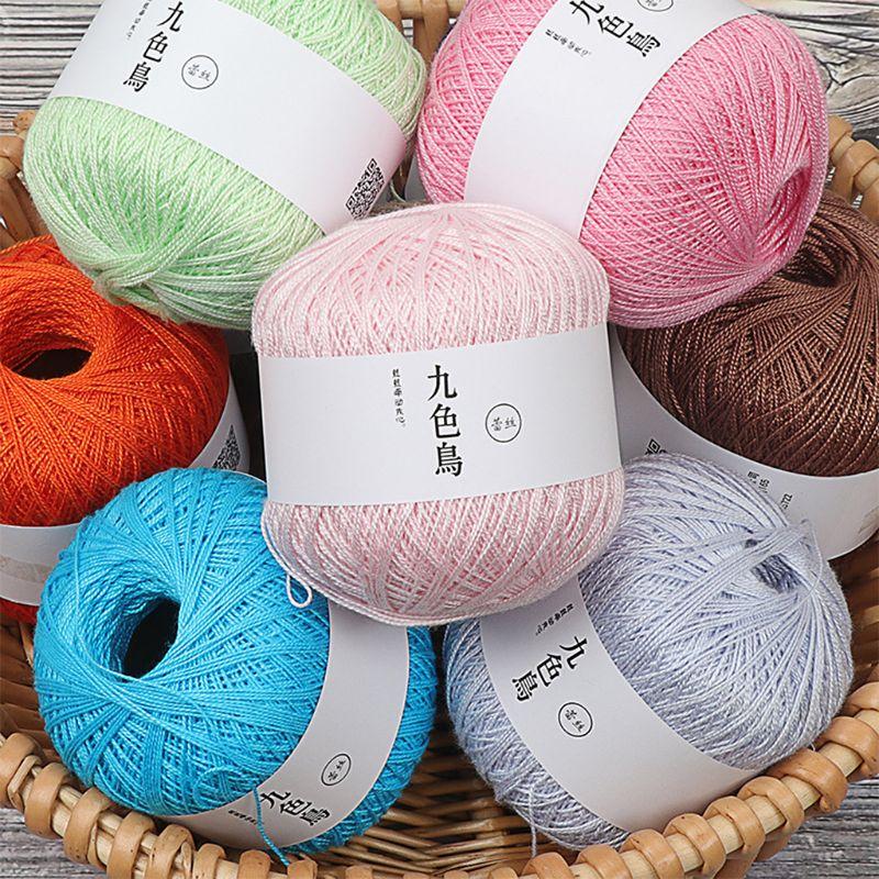 50g Silk Cotton Milk Crochet Yarn Baby Hand-Knitted Warm Soft Knitting Thread for Hand Knitting Supplies