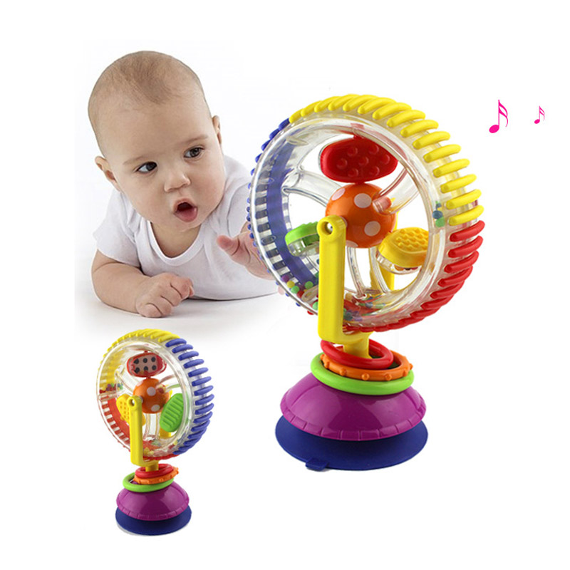HOT SELL Colorful Rotating Ferris Wheel Baby Rattle Toys Graphic Cognition Early Educational Toy For Baby/Infant/Toddler/Newborn