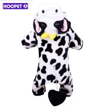 Hoopet Super Warm Coral Velvet Dog Coat Cosplay Milk Cow Dog Jacket Fashion Dog Hoodie Pet Dog Outer Garment Puppy Costume(China)