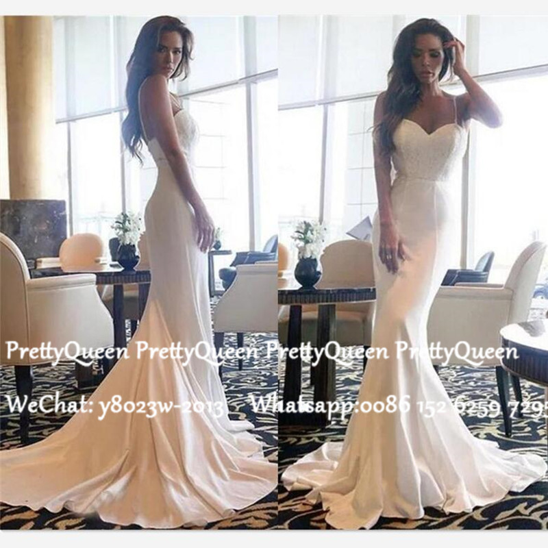 Sexy Long Sweep Train Wedding Dress Mermaid 2020 White Sweetheart Neck Bohemia Bridal Dresses For Women Vestido De Noiva
