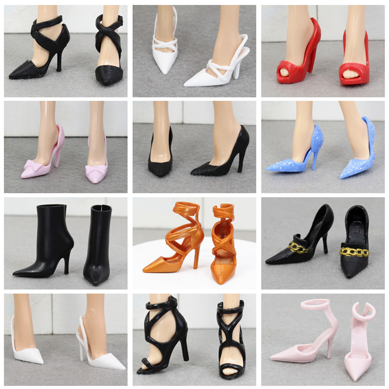 Collective Edition Original Fashion High Heels Shoes / Doll Accessories For 1/6 FR ST Xinyi Barbie Doll , Doll Shoes