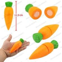 Mini czerwonej marchwi warzywa dziewczyna charakter grać w grę kuchnia gotowanie bezpieczeństwa cięcia Diy dzieci boże narodzenie prezenty edukacyjne zabawki