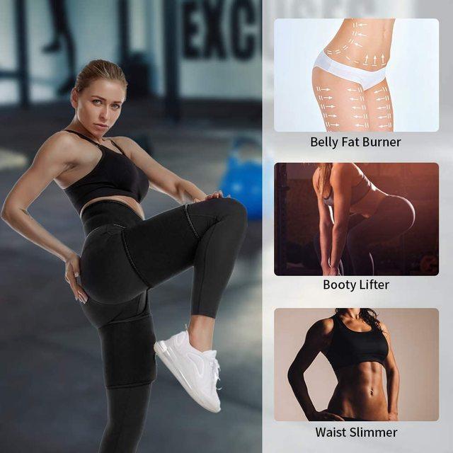 Women Neoprene Sweat Waist Tranier Body Shaper Butt Lifter Thigh Trimmer Sauna Shaperwear Tummy Control Belt Workout Fitness 1