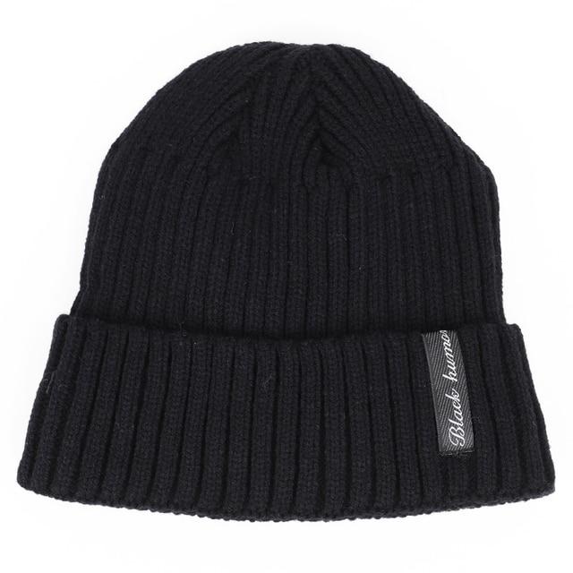 winter men's hat letter label velvet thick 3
