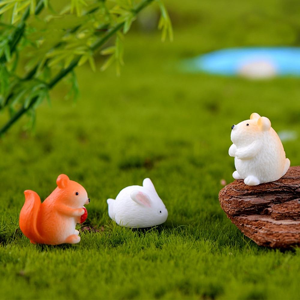 micro paysage décoration cerf miniature fée jardin bonsaï artisanat