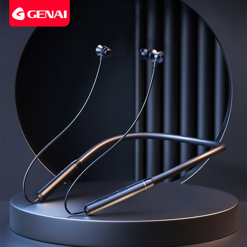 GENAI Wireless Bluetooth Headphones with Microphone In Ear Headphones for Smartphone Magnetic Earphone for Sports Gaming Headset