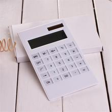 12 Digits Large Display Desktop Calculator Solar And Battery Dual Power Crystal Button Calculator Large screen ultra thin