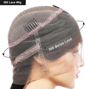 Image 5 - Eva saç 360 dantel Frontal peruk ön koparıp bebek saç ile tutkalsız kıvırcık dantel ön İnsan saç peruk kadınlar için brezilyalı Remy saç