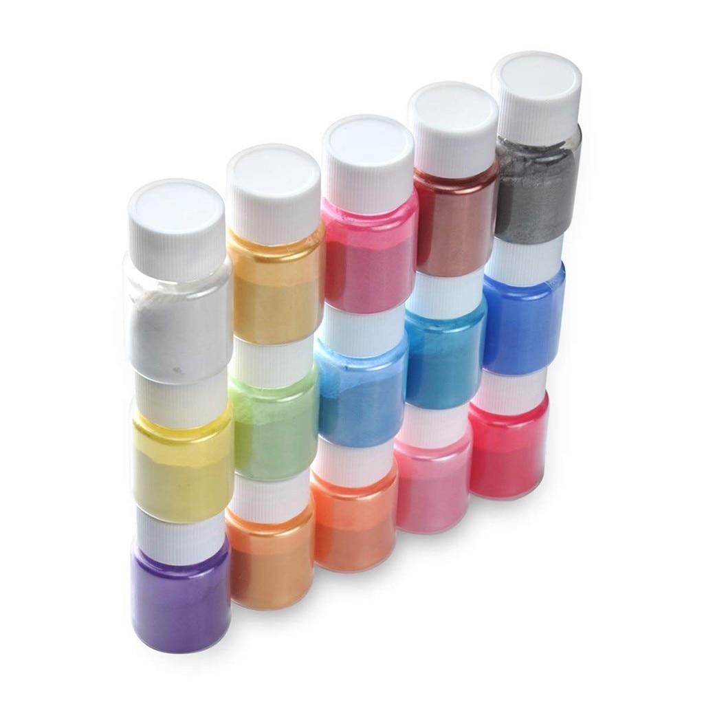 15шт DIY слизь комплект блеск порошок пигмента-наполнителя игрушки украшения жемчужный порошок красителя пушистые клей слизь образовательных аксессуар#Y20 в