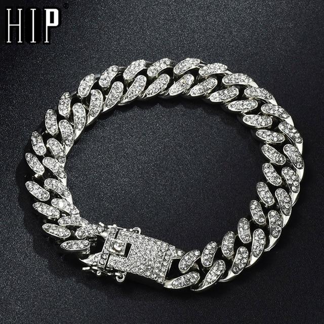 Мужские браслеты со стразами в стиле Хип-Хоп