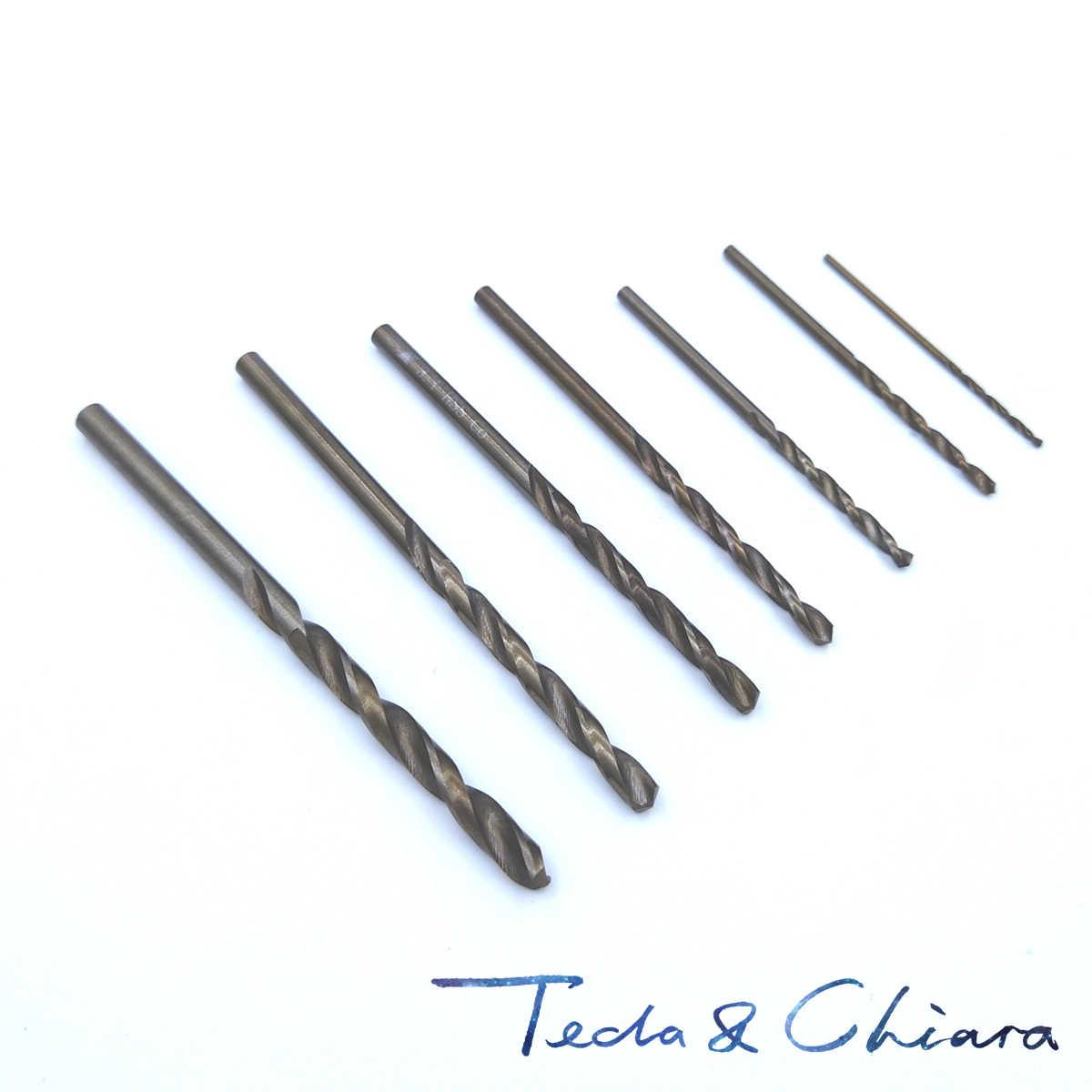 10 pièces 0.8 0.9 1 1.1 1.2 1.3 1.4 1.5 1.6 1.7 1.8 1.9mm HSS-CO M35 Acier Au Cobalt Forets Hélicoïdaux À Tige Droite En Acier Inoxydable