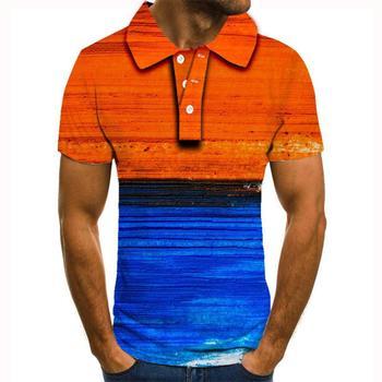 2020 nowy projekt koszulka polo mężczyźni Casual męskie koszulki Polo lato wysokiej jakości topy koszulki Polo Polo morze 3d koszule z nadrukiem polo homme tanie i dobre opinie krótkie REGULAR Na co dzień guzik Drukuj POLIESTER Szybkoschnące Gradient