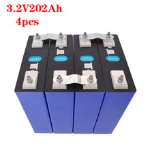 4PCS new 3.2v200ah lifepo4 rechargeable battery lithium iron phosphate solar cell 12v  200ah eu tax free usa fast ship