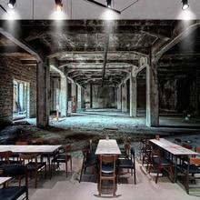 Papel pintado Mural personalizado Retro nostálgico Industrial viento 3D espacio Graffiti arte pared pintura restaurante cafetería Bar decoración de fondo