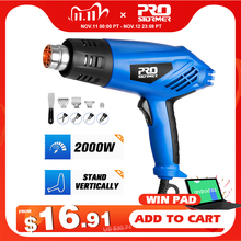 220V Heat Gun 2000W Electric Hot Air Gun Variable 2 Temperatures Industrial Power Tool with Four Nozzle Attachment by PROSTORMER