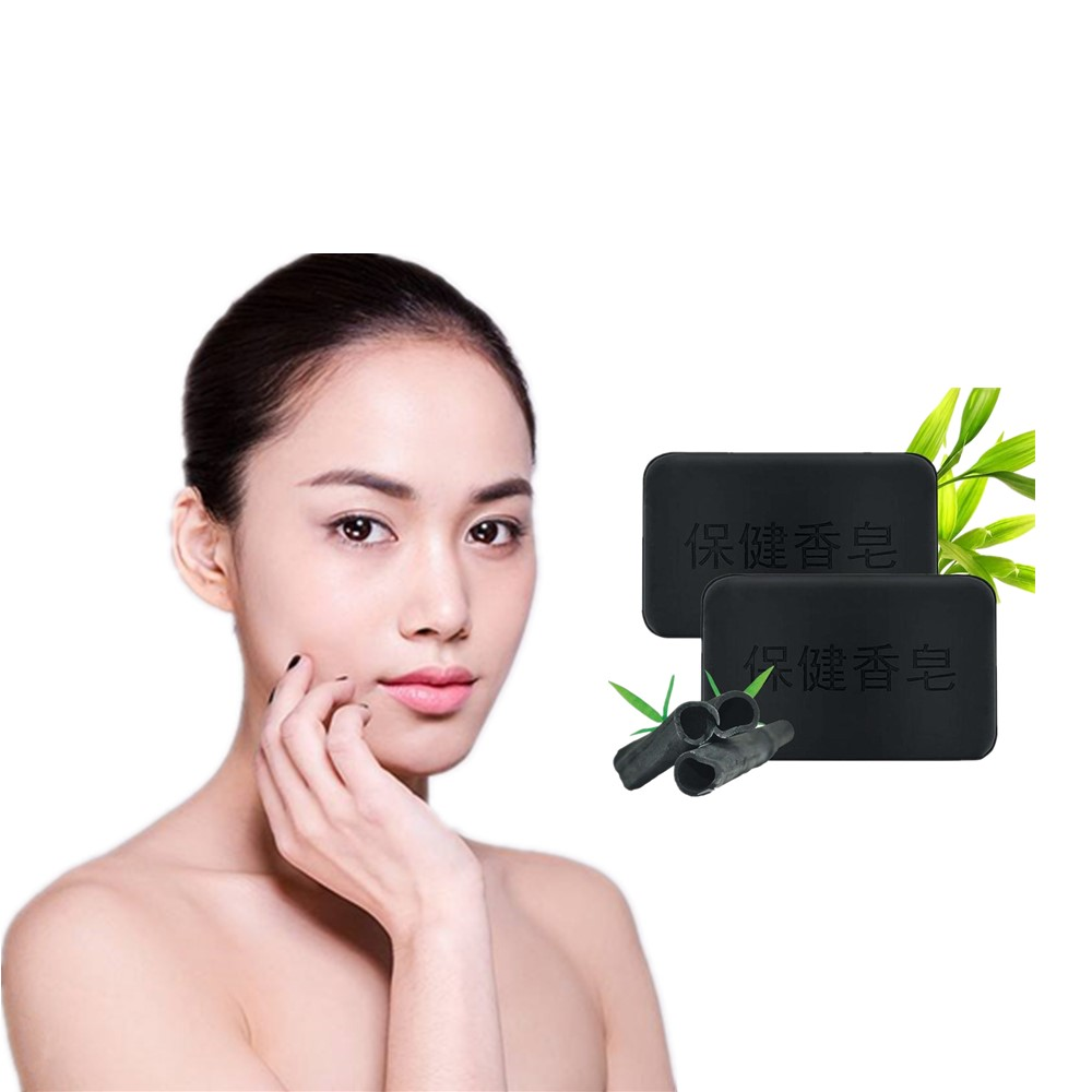 Active Bamboo Charcoal Soap Removal Acne Fseborrheia And Eczema Facial Soap Washing Removing Freckles Reduce Melanin Soap 40g