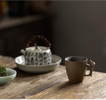 Taza De café con mango De cerámica, diseño moderno, Retro, antiguo
