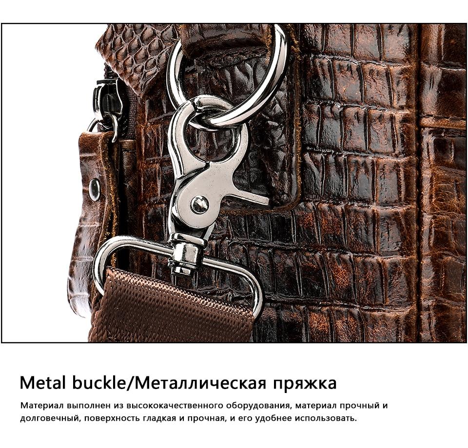 H9e9fc26b25e54763a1d9e06ff4c528696 WESTAL Men Briefcase Men's Bag Genuine Leather Office Bags for Men Laptop Bag Leather Briefcase Men Croco Design Computer Bags