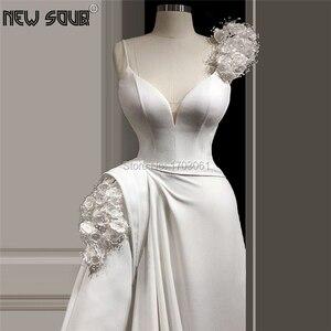 Image 1 - 床の長さビーズイブニングドレス 2020 カスタムメイドイスラムドバイ女性サウジアラビアアラビアロングフォーマルウェディングドレス Vestidos