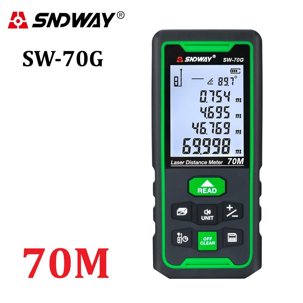 Лазер SNDWAY измеритель расстояния цифровой дальномер 100 м 70 м 50 м дальномер Trena лазерная рулетка измерительная рулетка инструмент