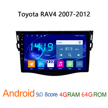 4G+64G car multimedia player for Toyota RAV4 2007 2012 android GPS navigation coche RAV 4 touch screen system auto autoradio SWC image