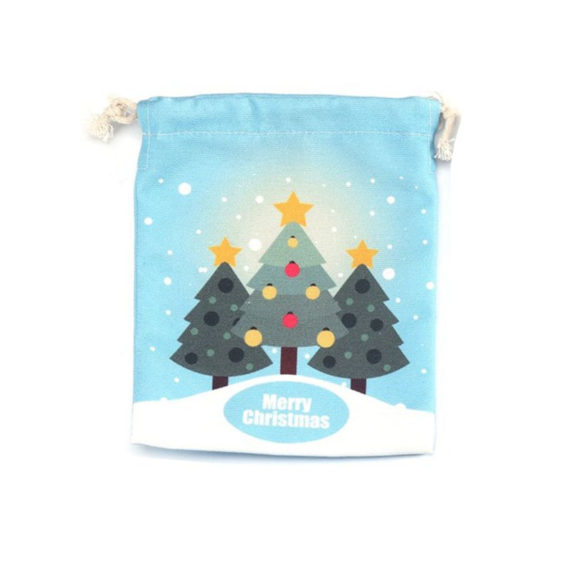 Women Christmas Drawstring Bag Gift Travel Xmas Party Decoration