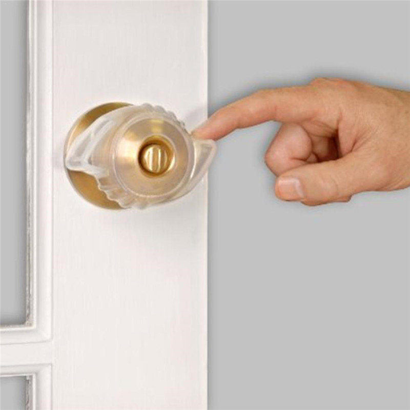 Fluorescent Door Knob Covers Soft Rubber Door Handle Knob Cover Protector Static-free Anti-collision Baby Safety Protective